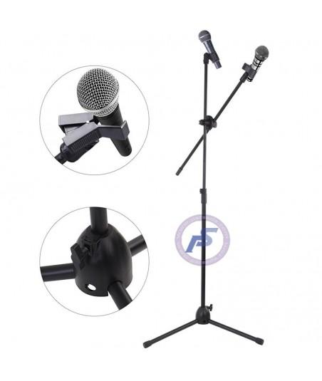 پایه میکروفون دو بازو 001