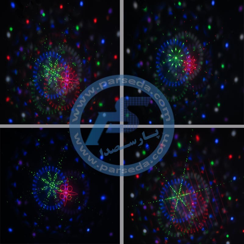 تصویر نور چرخان ال ای دی سفینه ای