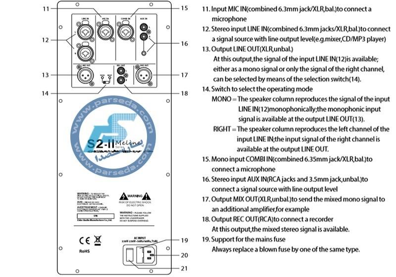 دفترچه راهنما اسپیکر اکتیو