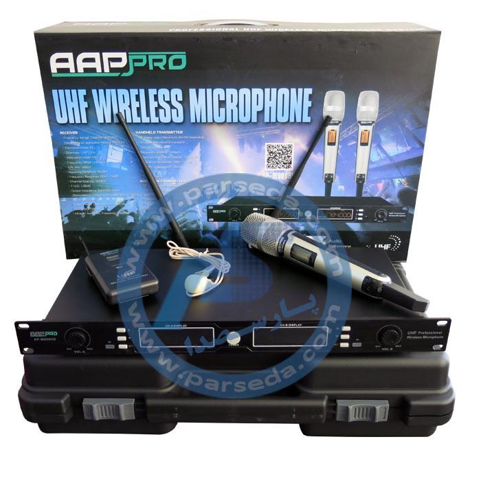 عکس میکروفون بیسیم دو کاننال AAP - 900