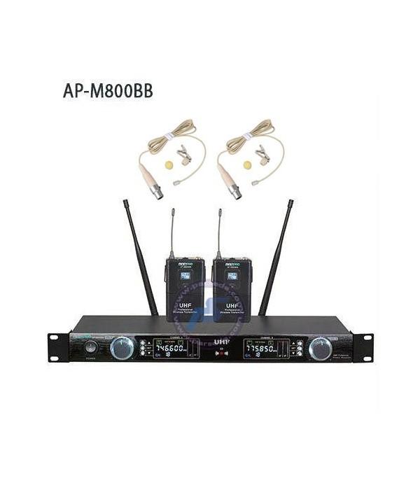 میکروفون بیسیم دو یقه ای AAP – 800BB