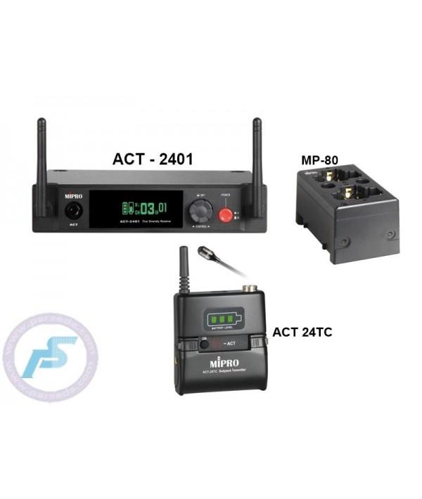 میکروفون بیسیم یقه ای MIPRO - 2401