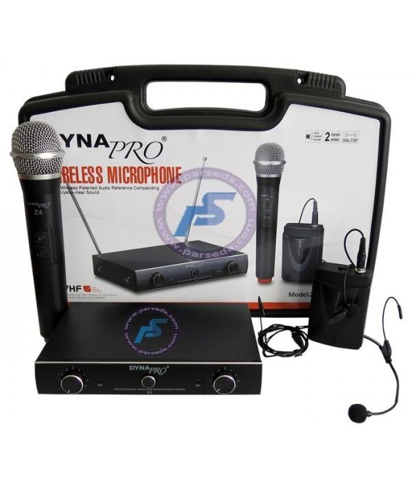 میکروفون بیسیم دستی و یقه ای  dynapro – Z4