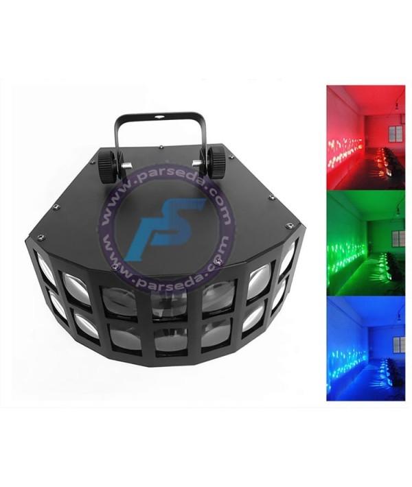 افکت LED دوبل پروانه ای 14 لنز مینی