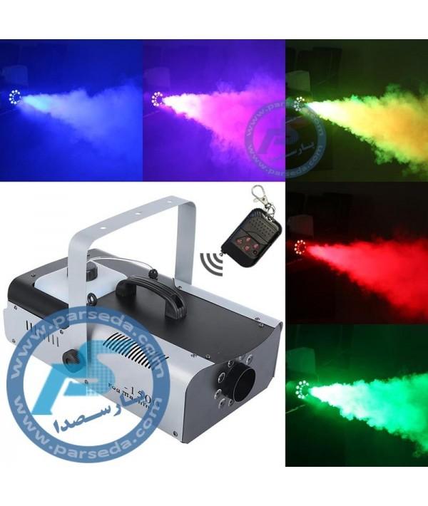 دستگاه بخار 1500 وات LED رنگی حرفه ای