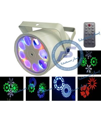 افکت LED 8 لنز ریموت دار...