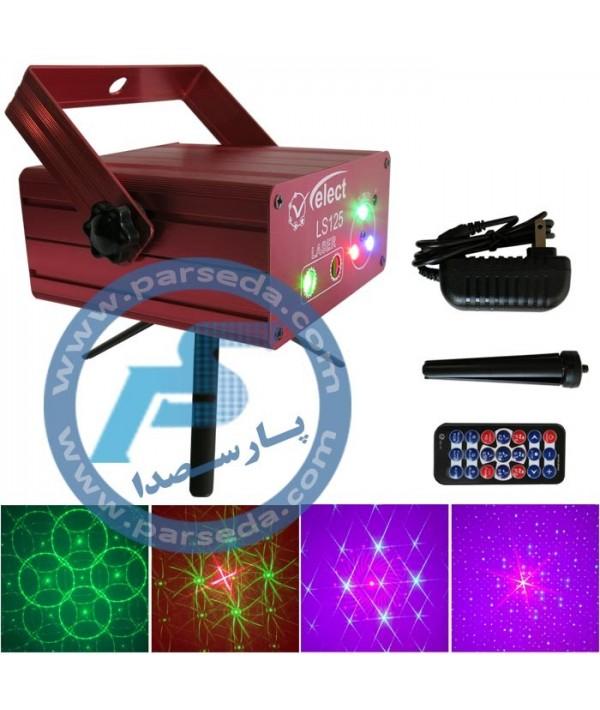 لیزر و LED RGB مدل 125 ریموت دار