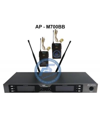 میکروفون بیسیم 2 یقه AAP –...