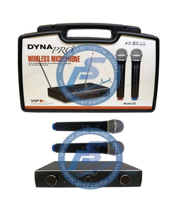 میکروفون بیسیم 2 کانال  dynapro – Z3