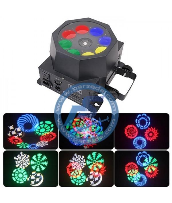 افکت LED 8 لنز بزرگ METALAX