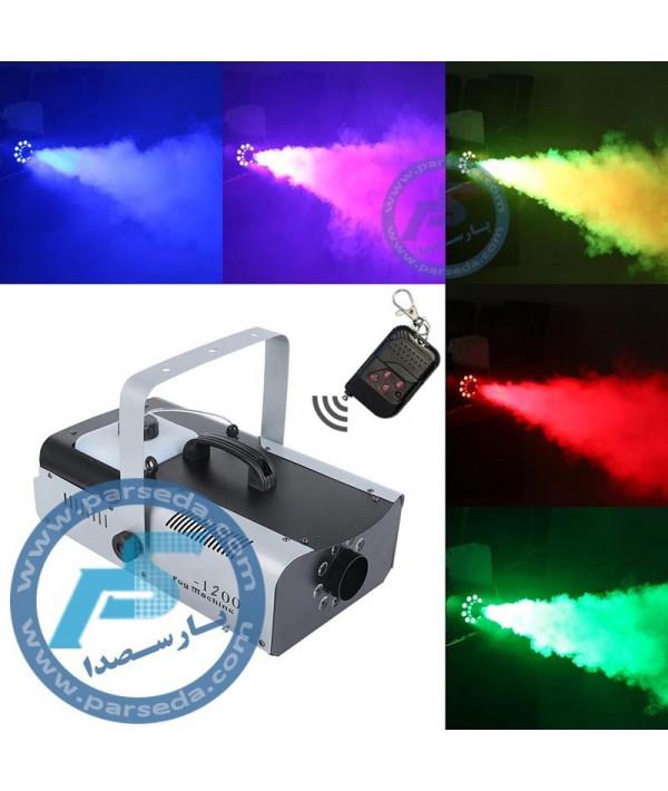 دستگاه بخار 1200 وات LED رنگی MTS