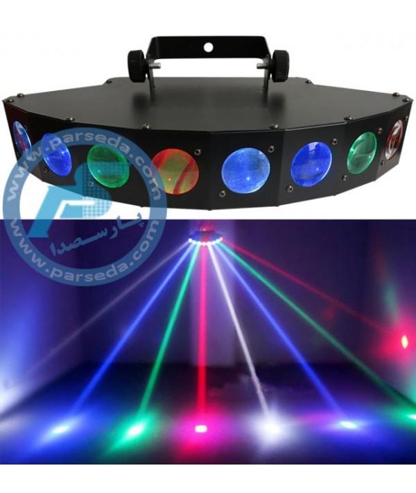 افکت LED هشت بیم رنگی 8BEAM
