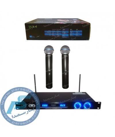 میکروفون بیسیم 2 کانال  SHURE – ULX4