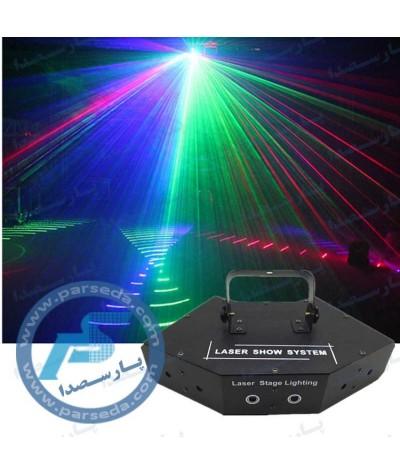لیزر 6 کانال بارانی گرافیکی RGB