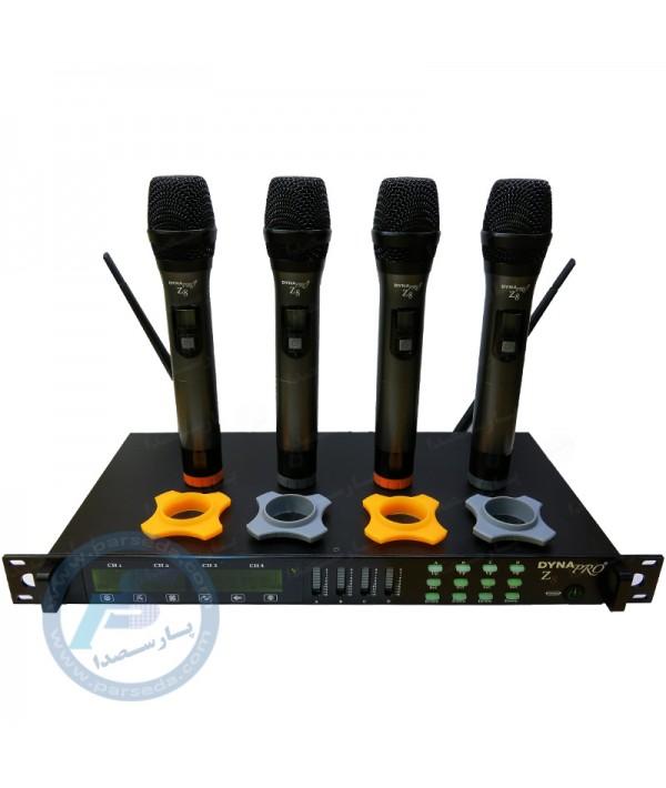 میکروفن بیسیم 4 کانال DYNAPRO - Z8