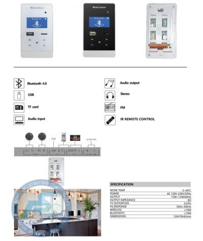 مشخصات فنی امپلیفایر دیواری 215