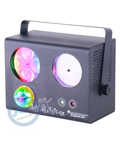 لیزر باکس 4 کاره ال ای دی، مجیک بال، لیزر و بیم