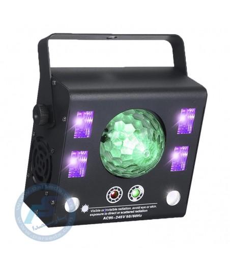لیزر باکس 4 کاره فلشر، مجیک بال، لیزر و بلک لایت