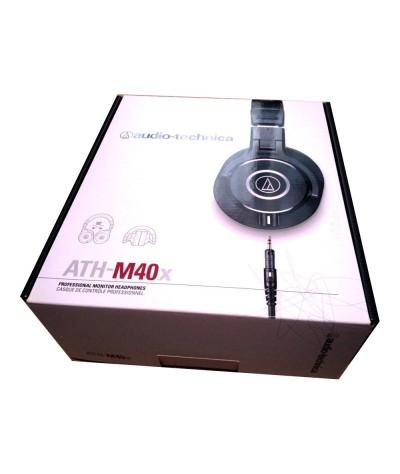 انباکس هدفون audio technica ath m40x