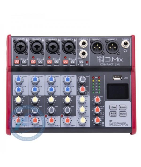 میکسر 6 کانال D.MIX - 6XU
