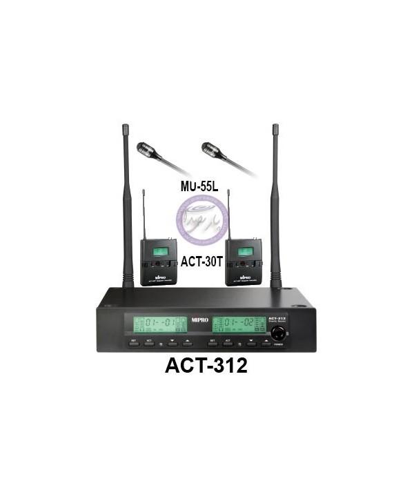 میکروفون بیسیم دو یقه MIPRO-ACT312