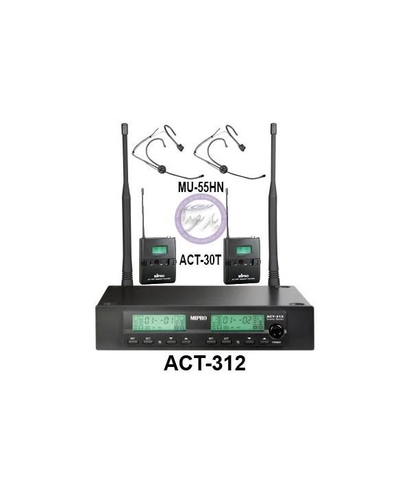 میکروفون بیسیم 2هدمیک MIPRO-ACT312