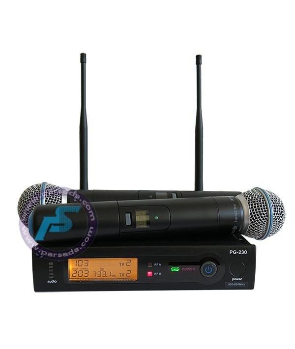 میکروفون بیسیم دو دستی مدل 230HH