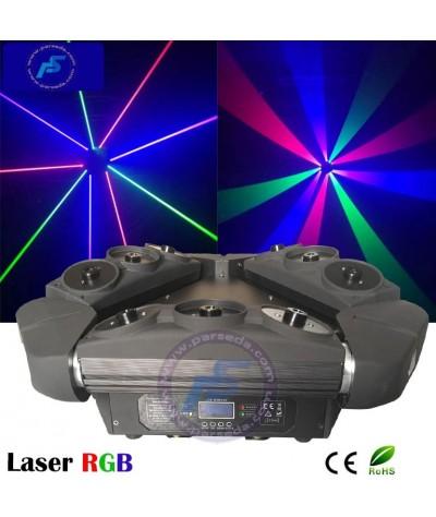 مووینگ لیزر سه بازو RGB