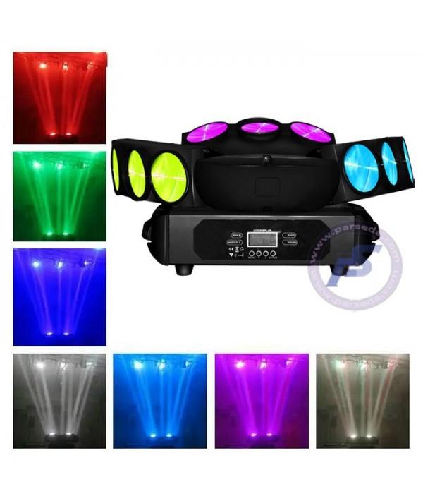 مووینگ اسپایدر LED سه بازو RGBW